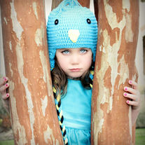 Blue Bird Toddler Girls Sized Handmade Crochet Hat (Unisex)
