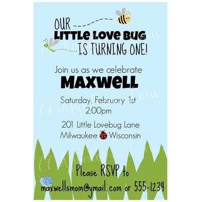 Birthday invitations 77 appaloosa lane online store powered by little love bug birthday invitation filmwisefo