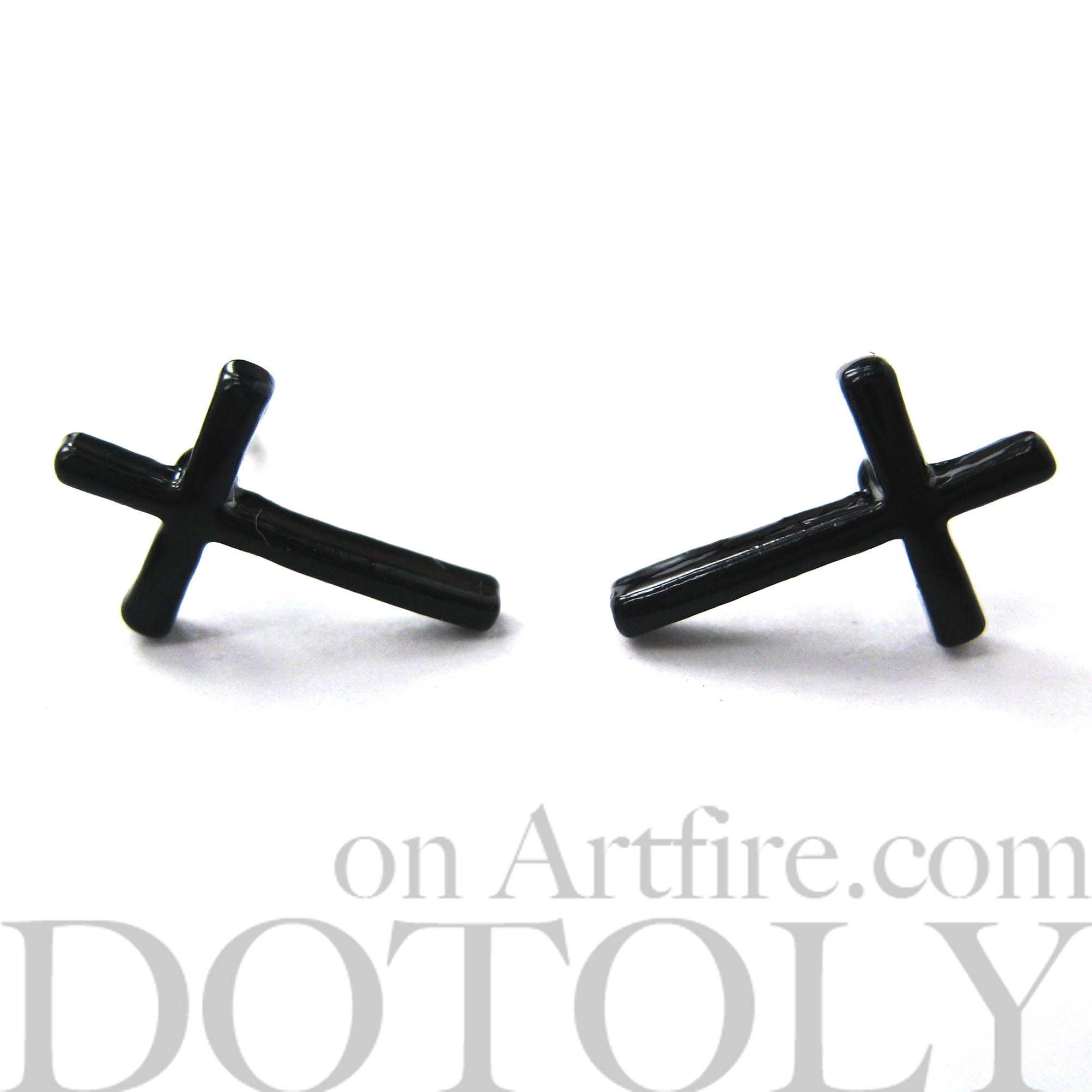 en earrings small women ssense designer us for stud cross