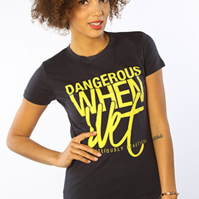 The dangerous when wet t-shirt in navy