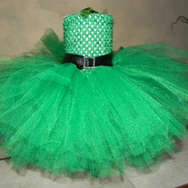 Emerald Green St Patrick's Day Baby Girls Leprechaun Tutu Dress Set