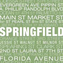 Springfield Neighborhood Print