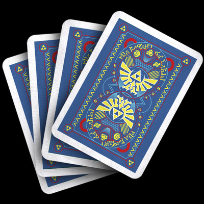 Blue bonus royal cards - hylian court playing cards