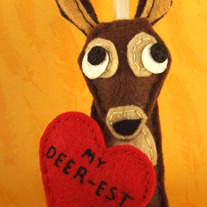 My Deerest Felt Valentine's Day Ornament - Ingrid the Deer