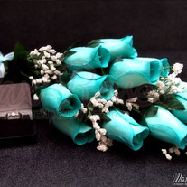 Baby Blue Dipped Wax Roses