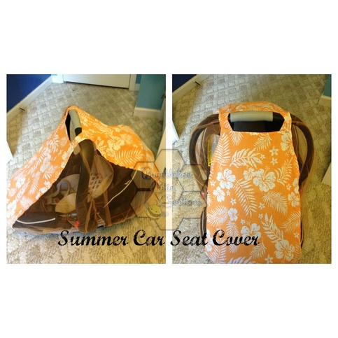 orange hawaiian summer car seat cover on storenvy. Black Bedroom Furniture Sets. Home Design Ideas