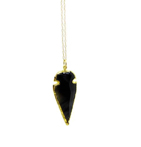 Black Obsidian Arrowhead Necklace TOCCA JEWELRY Handmade ...