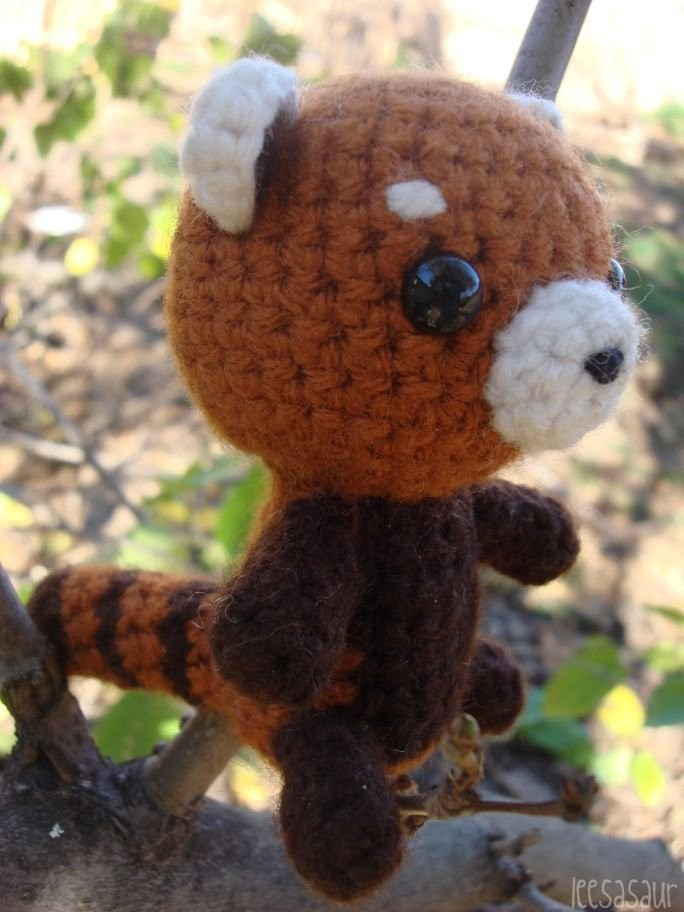 Amigurumi Red Panda : LEESASAUR Red Panda Amigurumi Online Store Powered by ...