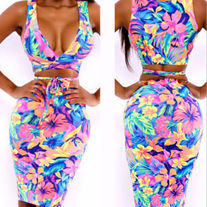 """Perfection"" floral bodycon set"