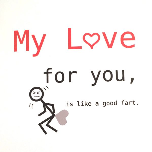 My love for you is like a fart funny anniversary card humorous my love for you is like a fart funny anniversary card humorous card m4hsunfo