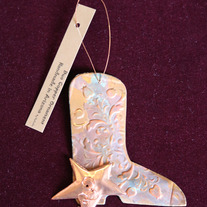 Copper Cowboy Boot Ornament medium photo