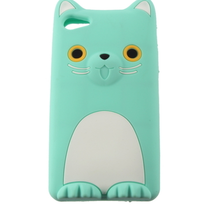 3D Cat Ear Blue Soft Silicone iPhone 4/4s Rubber Case