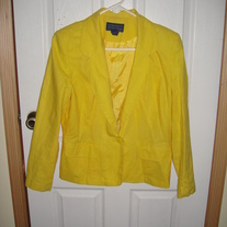 Willow Ridge Yellow Blazer Sz. 12
