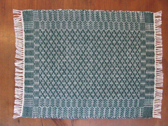 Emerald green miniature dollhouse handwoven floor rug for Decor international handwoven rugs