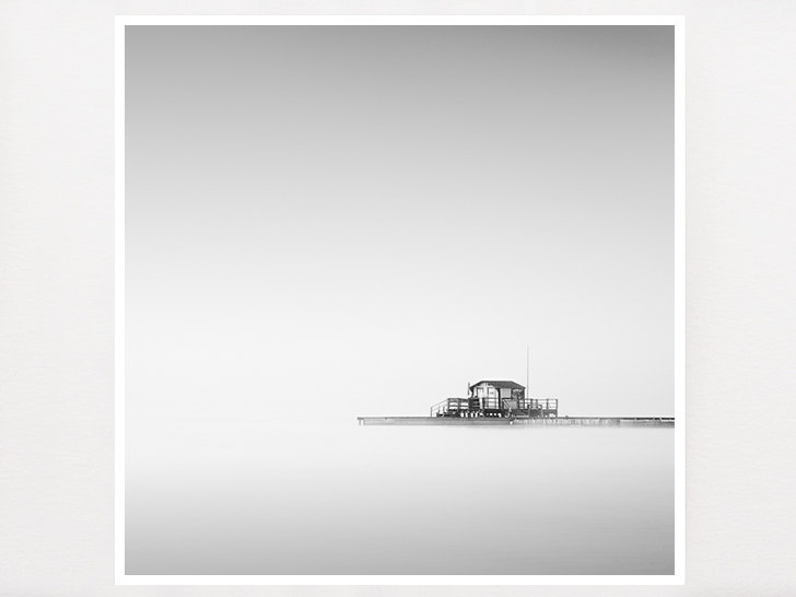 Minimalist black and white photograph lake photograph for Minimal art wall