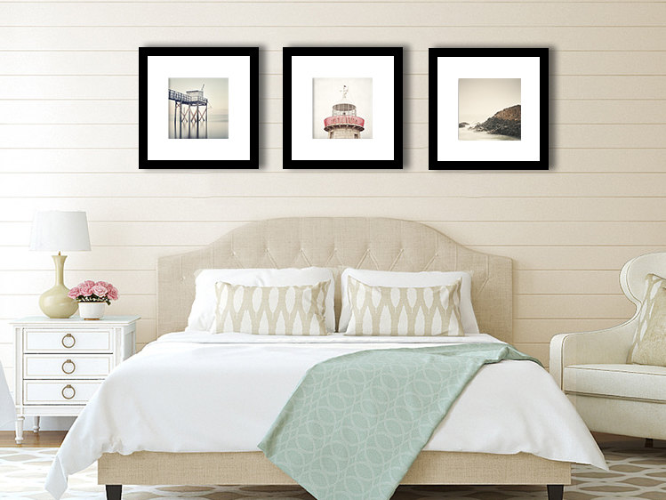 Discounted Set, Nautical Decor, Set of three 12 x 12 photographs, Beach Wall ...
