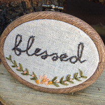 Thankful & Blessed hoops (Custom listing for Nicole)