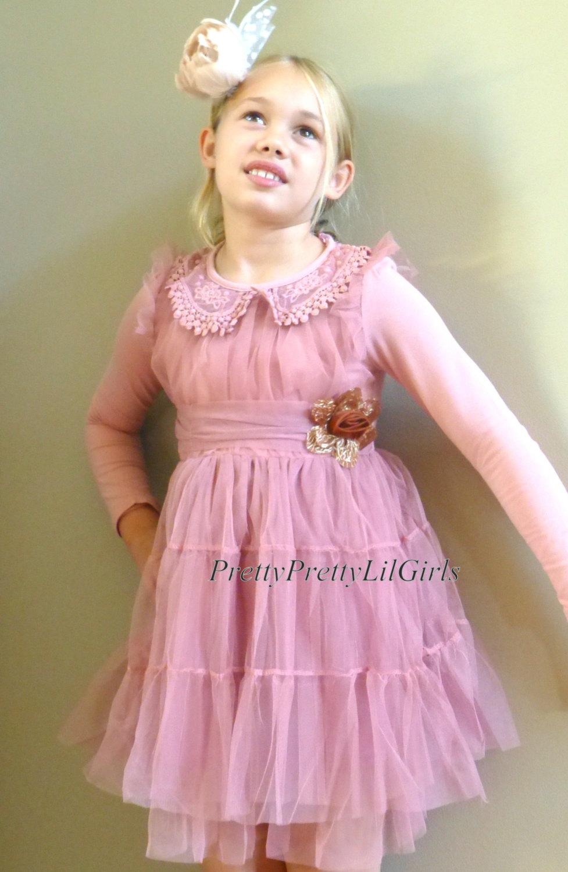 Toddler Girl Dress Girls Dress Lace Girls Dress Pink Girls Dress