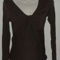 Brown Long Sleeve Top-Gap Maternity Size Small  CLTE1