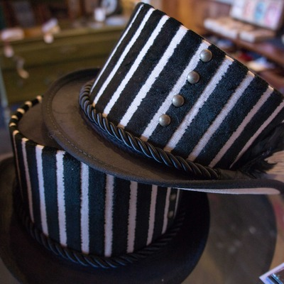 Julep licorice leather hat