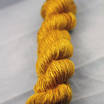 Goldenrod Silk Handspun Yarn