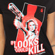 The If Looks Could Kill Tee in Black - Thumbnail 1
