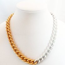 Silver and Gold Chunky Link Necklace