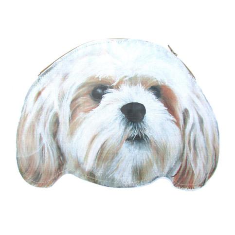 Shih Tzu Puppy Dog Head Shaped Animal Themed Vinyl Clutch