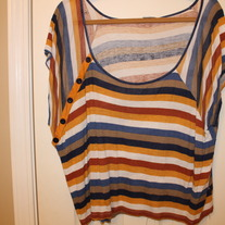 Striped Dolman Sleeve Top- Forever 21 Large