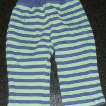 Navy/Green Stripe Pants-Old Navy Size 12-18 Months