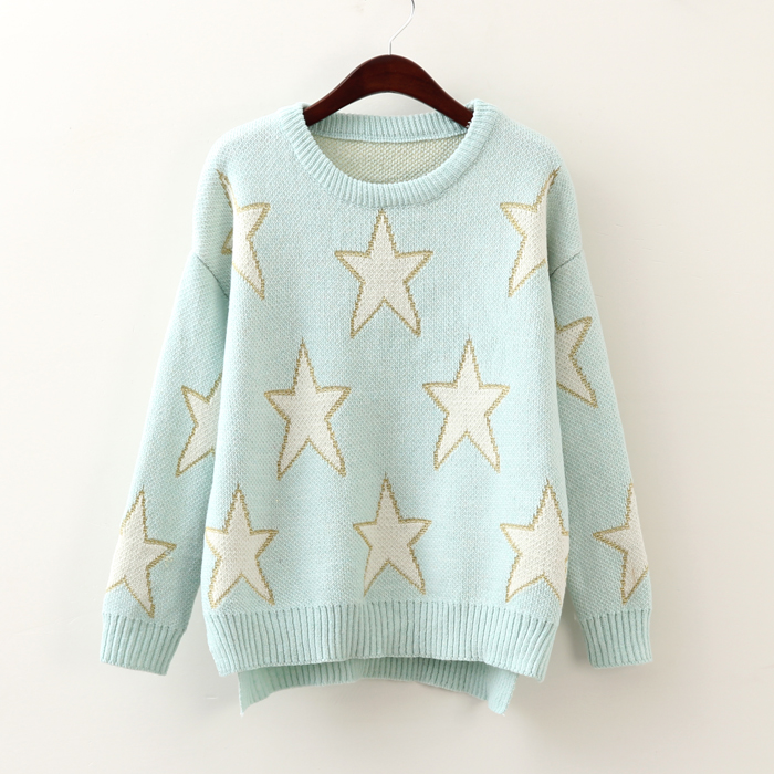 Pentagram light blue pullover sweater · Sweetbox Store · Online ...