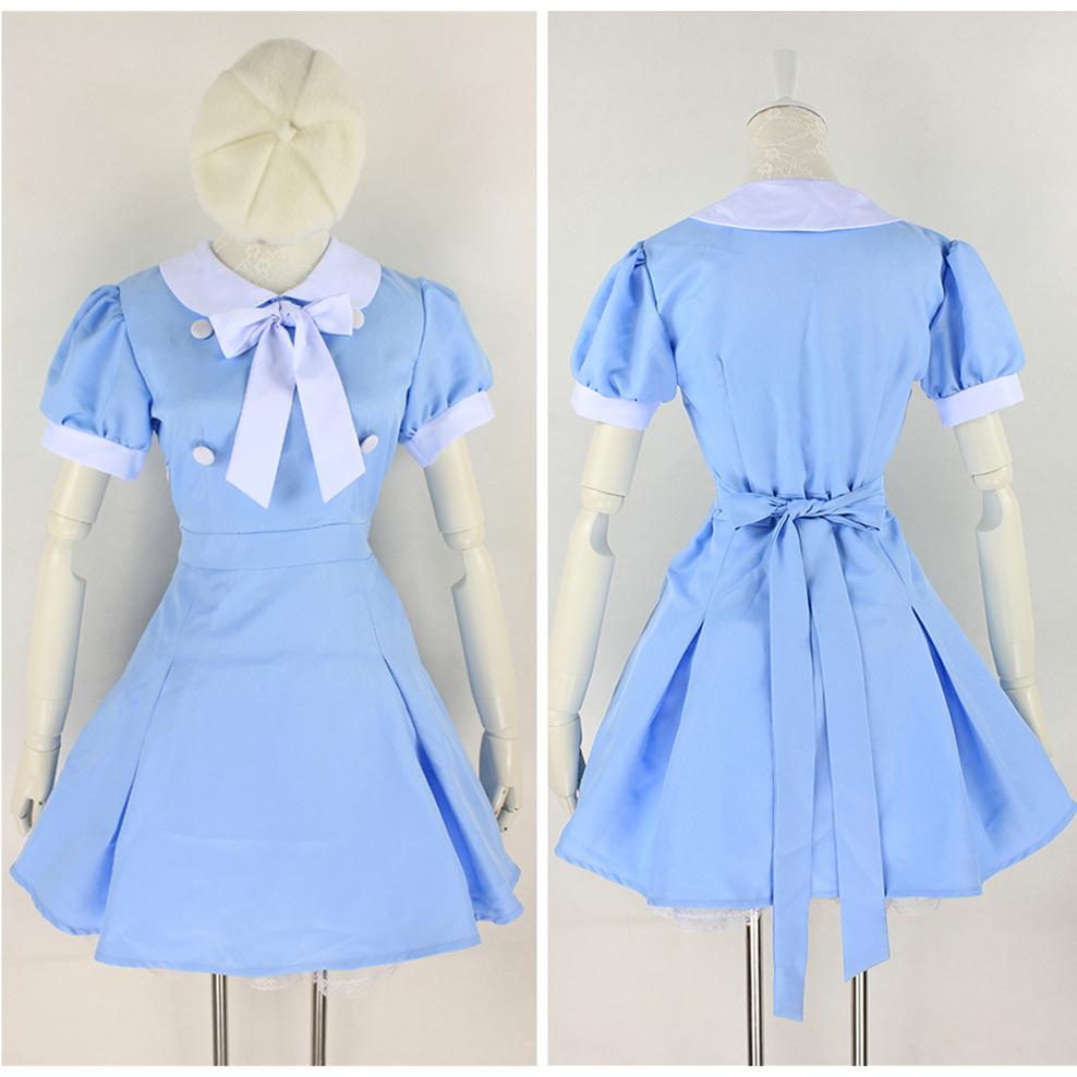halloween costume cosplay blue school uniform princess dress free ship sp141244 - Blue Halloween Dress