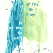 """My Own Little Corner"" 8x10 Matte Print Inspiring Watercolor Illustration"