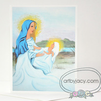 "Handmade ""The Birth"" Blank Notecard, Art By Jacy Lee Pulford"