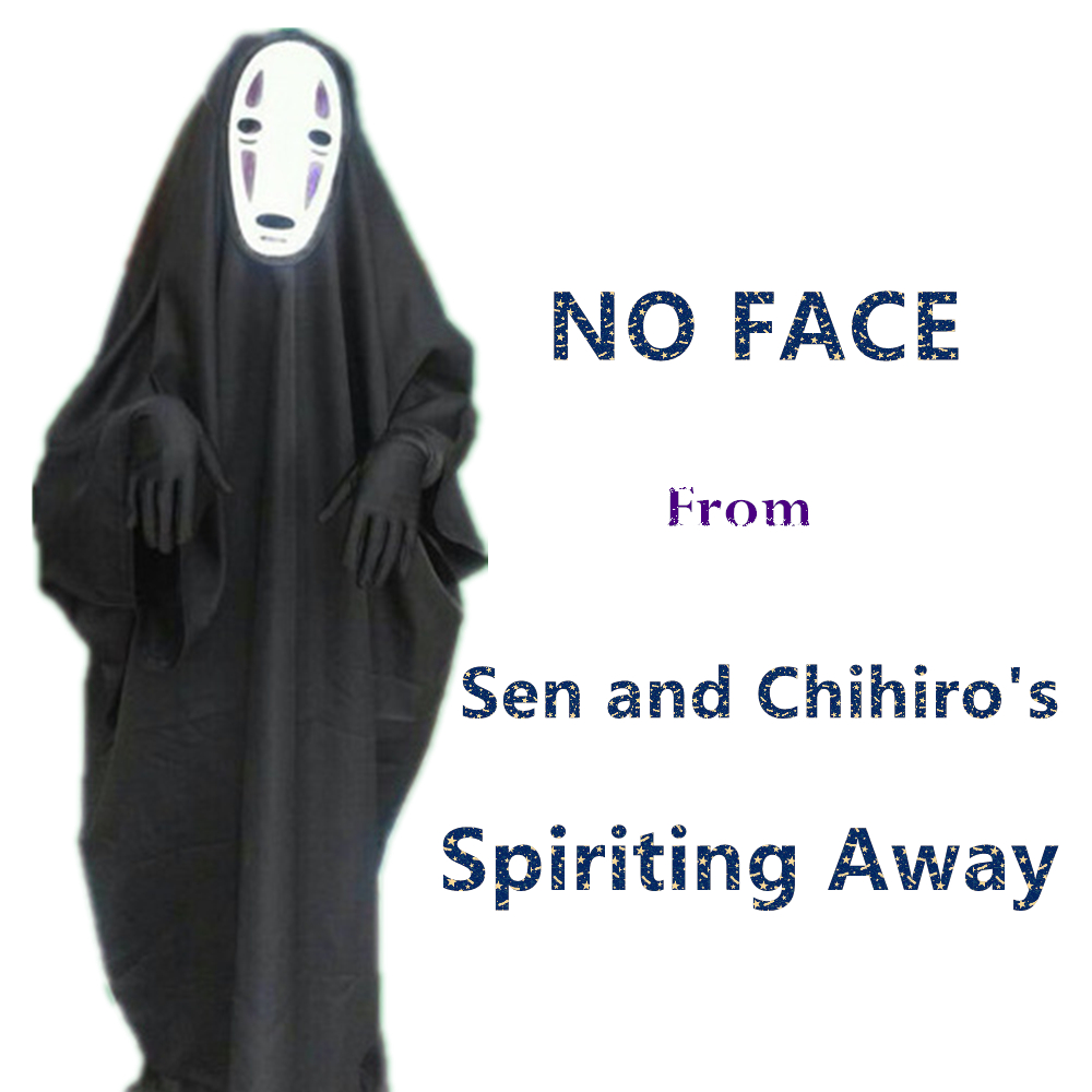 Halloween Costume Sen and Chihiro's Spiriting Away NO FACE Cosplay ...