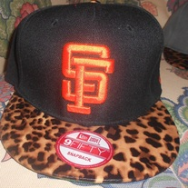 SF Giants Leopard Print Strapback