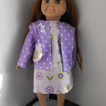 Purple Floral dress, jacket and purse 3 pc.