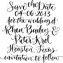 Save the Date Custom Handwritten Calligraphy Stamp - Thumbnail 3