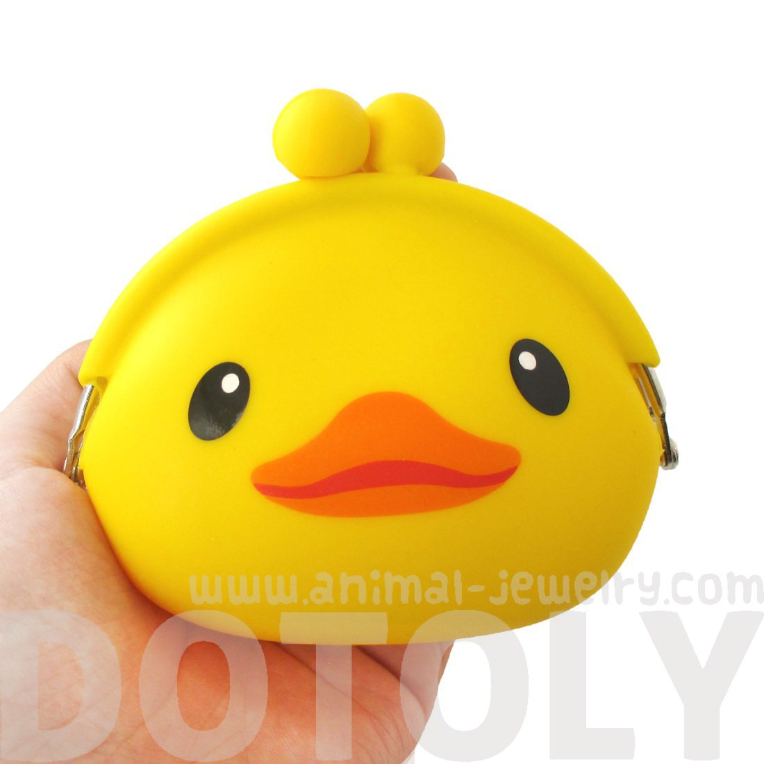 Yellow Rubber Ducky Duck Shaped Mimi Pochi Animal Friends Silicone ...
