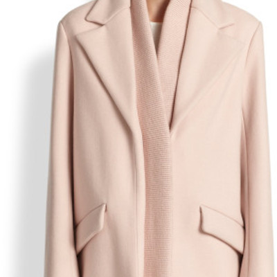 Thakoon pink wool ribbed coat