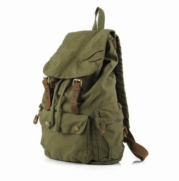 Military green canvas scout field backpack unisex · Vintage rugged ...