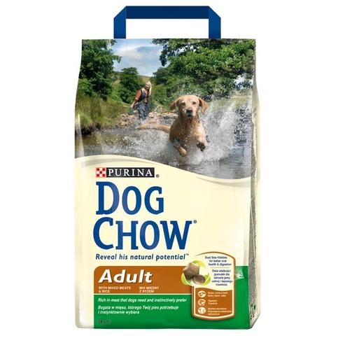 Dog Chow Adult сухой полнорационный корм для взрослых собак (с курицей)