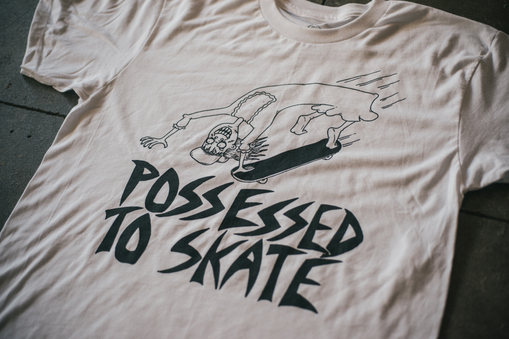 possessed to skate tee shirt way bad online store powered by storenvy. Black Bedroom Furniture Sets. Home Design Ideas