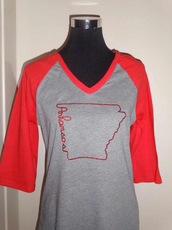 Arkansas Bling Raglan Shirt Martin Nest Designs Online