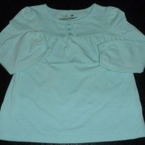 Light Blue Long Sleeve Shirt with 3 Buttons-Jumping Beans Size 3T
