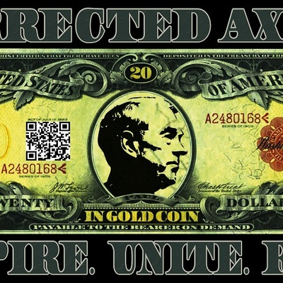 Co-ax gold note sticker