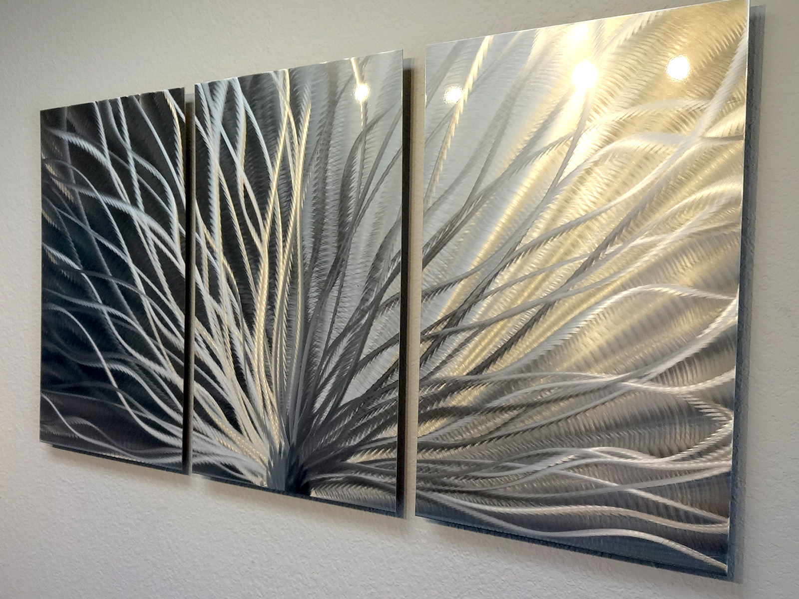 Wall Art Metal Panels : Radiance panel metal wall art abstract contemporary