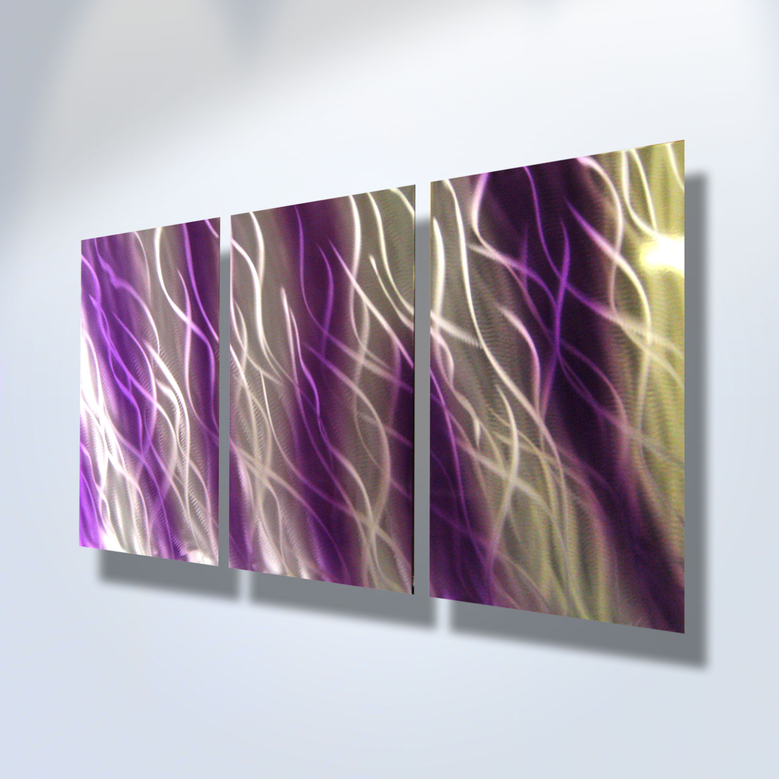 reef purple abstract metal wall art contemporary modern decor inspiring art gallery online. Black Bedroom Furniture Sets. Home Design Ideas