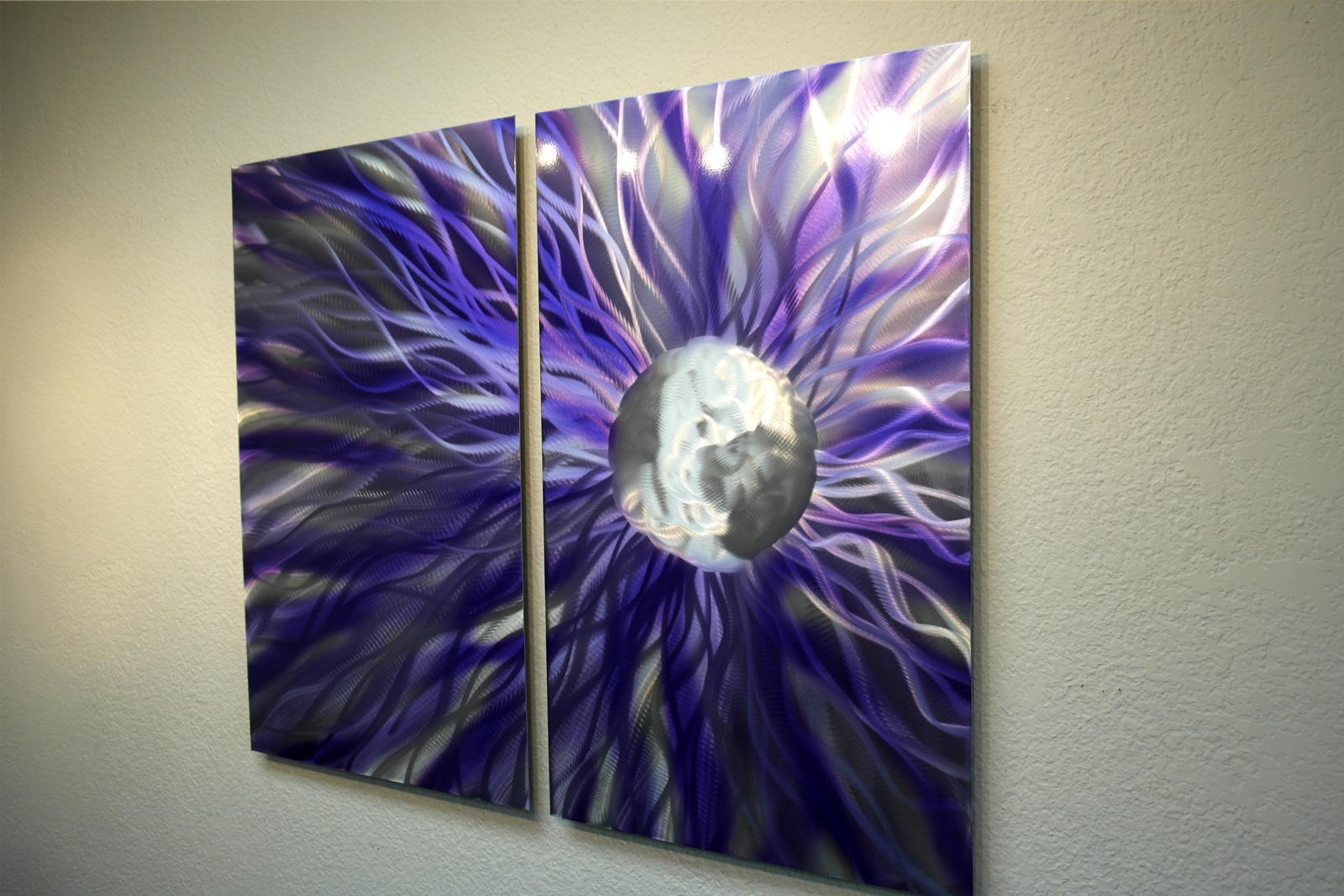 Purple Metal Wall Art solare purple - abstract metal wall art contemporary modern decor