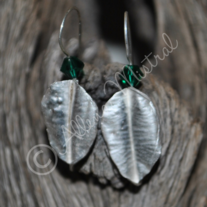 Fold Formed Leaf Earrings